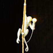 Modern Lamp Home Decor lighting Resin Monkey Rope hanging Pendant lamp