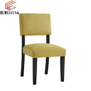 Restaurant Wooden Linen Fabric Side Chairs