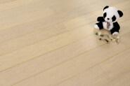 White strandwoven bamboo flooring