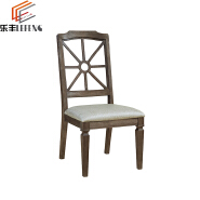 Wooden Linen Fabric Dining Chair Imported From China