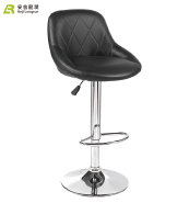 china wholesale black funky leather club chair bar stool Malaysia footrest covers