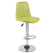Cheap PU Colorful High Modern leather armless Bar Stool With Footrest