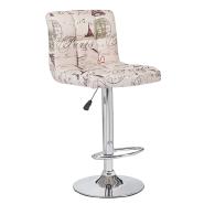 Bar furniture height adjustable swivel modern Paris graffiti bar stool chair