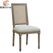 Modern Living Room Cream Upholstered Chair Restaurant Wood Dining Chairs