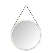 Round shape bamboo makeup mirror frame