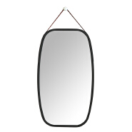 Black color wall mirror decorative for home