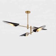 Modern Swivel Aluminum 4/6/8 lights Gold Chandelier