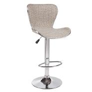 Simple stripe Weave fabric design modern furniture swan bar stools chair