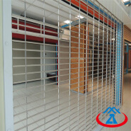Remote Control Commercial Stainless Steel Grills Rolling Security Door