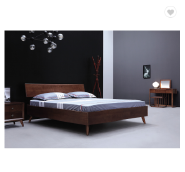 Modern Bedroom Set Solid Wood Home Furniture New Double Fabric Bed Designs Model