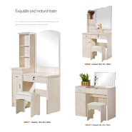 Modern Design Wooden MDF Mirrored Dressing Table