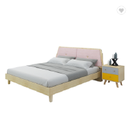 Factory wholesale modern bedroom furniture set of Chinese newest soft bed wooden double bed