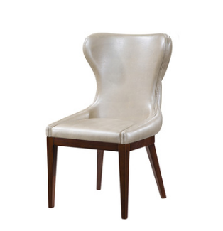 Leather back armless chair modern style home furniture dining room living room single chair
