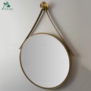 round gold mirror custom made bathroom Interior vestibule wall mirror