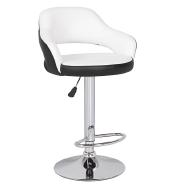 fashion PU leather seat white bar stools 360 swivel bar stools with armrest