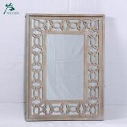 houseware wooden frame cross decorative wall mirror