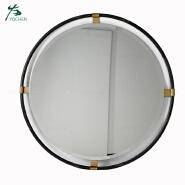 shabby chic vintage home decor black metal round mirror