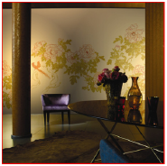 Peony Flowers Chinese Hand Made Gilded Wallpapers Luxury Wallpaper