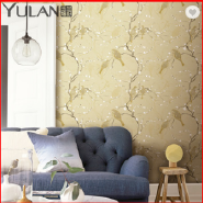 Birds Design Chinese Style Non-woven Wallpaper Home Decoration