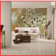 Elegant Floral Design Digital Printing Non-woven Custom Wallpaper