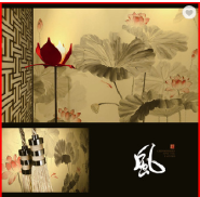 Fine Ink Painted Chinese Non-woven Wall paper