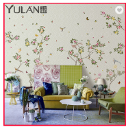 Chinese Style Non-woven Digital Printing 3D Wallpaper for Restaurant
