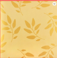 Yellow Leaves Pattern Popular Wallpaper Non-woven Wall Covering