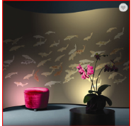 Fish Design Gilded Non-woven Hand Painted Wallpaper China
