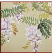 Graceful Fine Ink Painted Chinoiserie Non-woven Fancy Wall Paper
