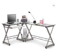 Computer Desk PC Workstation Office Desk Glass Office furniture