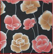 Modern Floral Design European Style Flocking Wall Paper TV Background Wallpaper