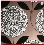 Floral Design Non-woven Flock Wallpapers 2017 Wallpaper