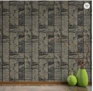 Black Modern Squares Design High-end Non-woven TV Wall Wallpaper