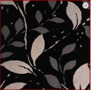 Leaves Patten Flock Non-woven Bedroom Decoration Wallpaper