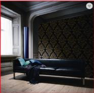 European Design Non-woven Black Wallpaper for Home