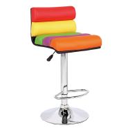 2018 Wholesale Modern Style Leather Swivel rainbow Bar Stool Chair