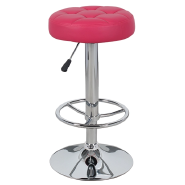 popular design soft PU seat height fixed 360 degree swivel chromed bar stool