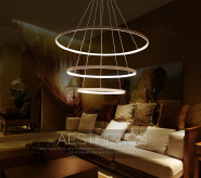 modern decorative hanging chandelier led acrylic lamp