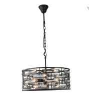 New design hanging crystal pendant lamp for home decoration zhongshan china
