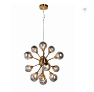 Modern Design Smoky Glass ball Shade Pendant Light Fixtures For Kitchen And Living Room