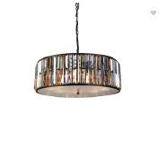 European luxury atmosphere amber crystal chandelier black retro circular living room dining room cha