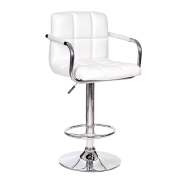 Modern design white cafe chairs swivel lift chair bar stools with armrest