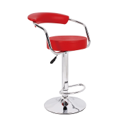 stainless frame modern adjustable swivel PU Bar Stool chair with round seat