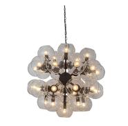 Unique Loft American style big glass ball pendant lamp lights chandelier