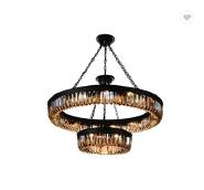 newest design Indoor big ball crystal hang wine cup pendant lamp