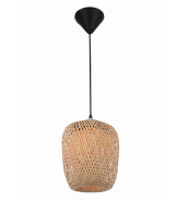 Exquisite rustic style bamboo chip knitting shade pendant lamp