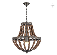 2019 new arrival Newest design Classic style bead decorative wooden pendant light