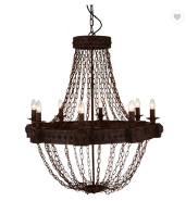 Classic popular metal rust brown pendant lamp for coffee bar with chain