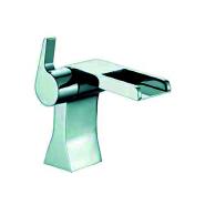 Waterfall bathroom basin faucet