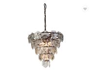 Modern glass pendant light luxury atmosphere dining room lamps